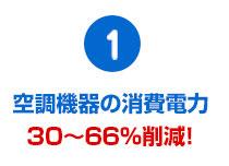 空調機器の消費電力17~55%削減!